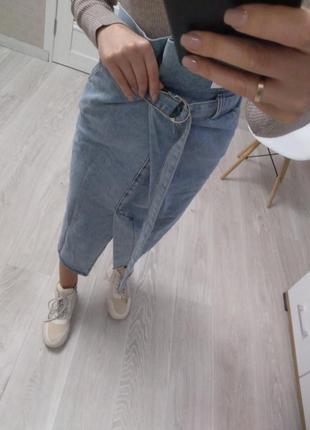 Нереальная джинсовая юбка с карманами