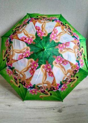 Новый детский зонтик- трость для девочек принцесса рапунцель о...