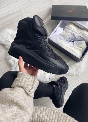 Adidas y-3 hokori black шикарные женские кроссовки адидас чёрные
