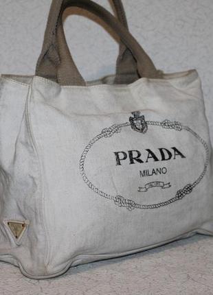 Оригинальная коттоновая сумка от prada