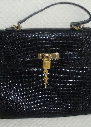Cosci birkin style (italy) кожаная сумка от бренда gucci