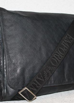 Оригинальная мужская кожаная сумка emporio armani