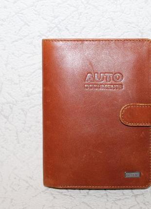 Кожаная обложка на документы/паспорт+кошелек