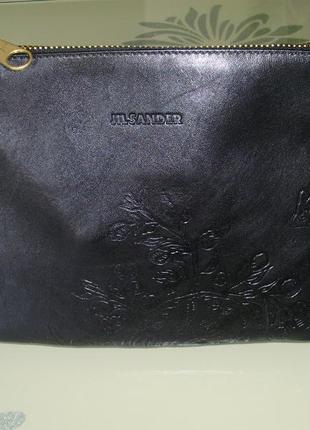 Jil sander (италия) брендовая кожаная сумка