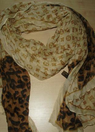 Louis vuitton (paris) большой гофрированный шарф
