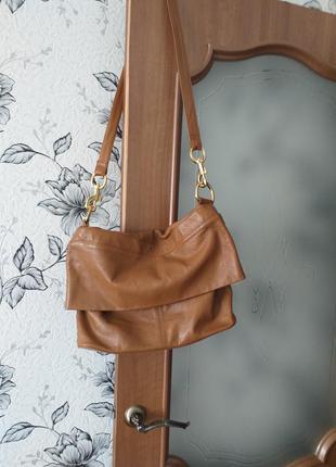Zara большая кожаная сумка