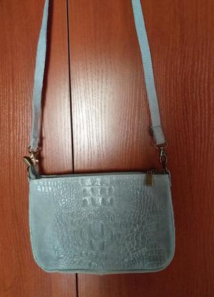 Genuine leather (italy) сумочка через плечо