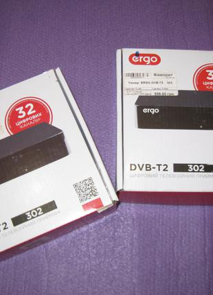 TV Тюнер цифровой Т2 DVB-T2 Ergo 302 USB -HDMI Full HD  в лоте 2