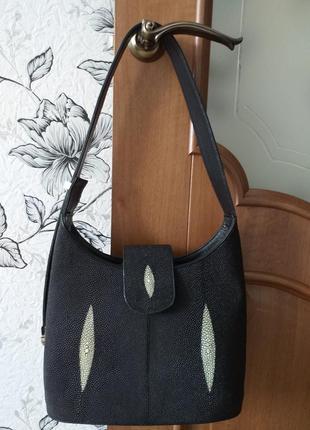 Сумка из кожи ската ручной работы ekzotic leather