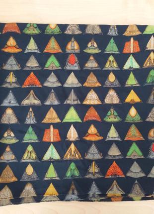 Fabric frontline брендовый шелковый палантин