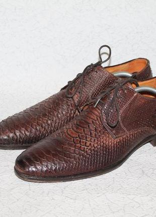 Статусные мужские итальянские кожаные  туфли 43 размер 28 см с...