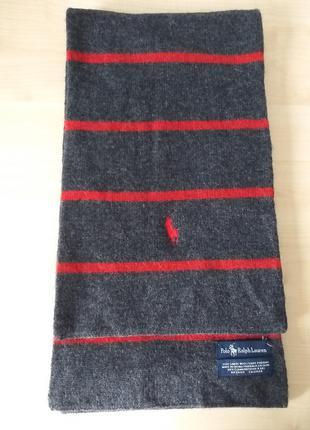 Polo ralph lauren  стильный шерстяной шарф