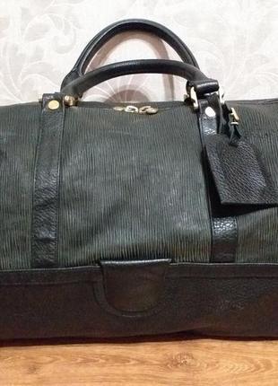 Loewe vintage  большая кожаная дорожная сумка