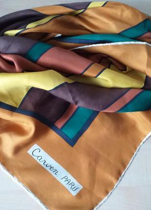 Carven vintage шелковый платок
