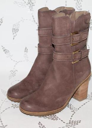 Зимние кожаные ботинки ecco 39 размер 25,5 см стелька