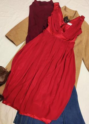 Платье вечернее коктейльное длинное миди шифоновое с вставками...