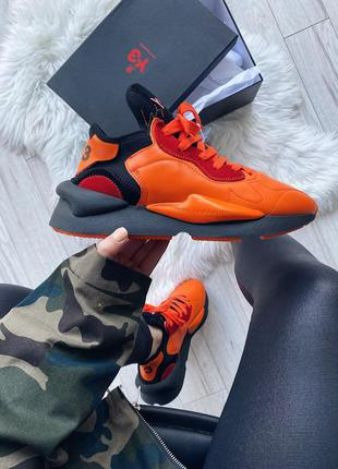 Adidas y-3 kaiwa icon orange black шикарные женские кроссовки ...