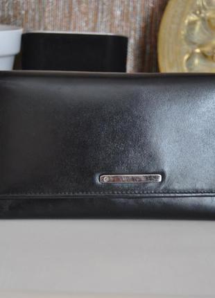 Кожаный кошелек clarks / шкіряний гаманець