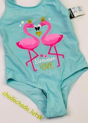 """Цельный купальник """"фламинго"""" примарк для девочек (2-8 лет)"""