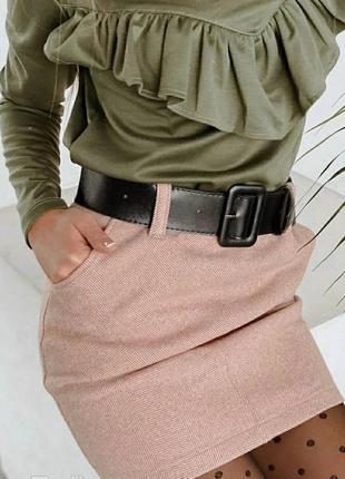 Женская юбка, юбка кашемировая, юбка