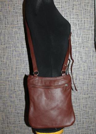 Кожаная сумка через плечо south