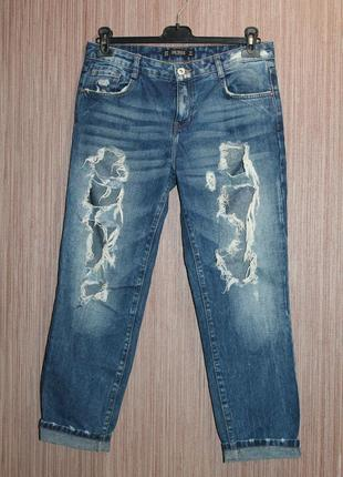 Zara denim trafaluc рваные джинсы бойфренды eur38/usa06/mex28