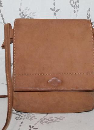 Кожаная сумка карман/планшетка