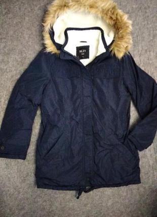 Куртка парка женская incity удлиненная с меховой отделкой жіно...