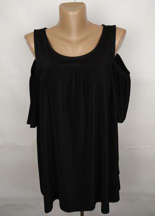 Блуза шикарная плисе большого размера marks&spencer uk 18/46/xxl