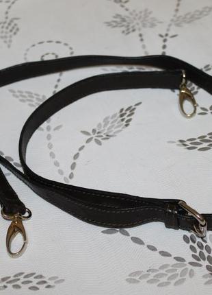 Кожаный плечевой ремень на сумку/портфель