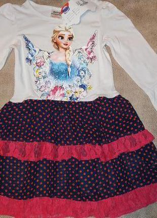 Платье эльза холодное серце tm nova
