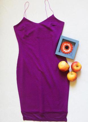 Фиолетовое платье на тонких бретелях от river island, размер s-m