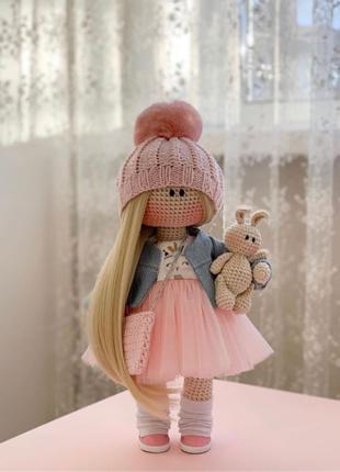 текстильная кукла.вязанная кукла. кукла ручной работы