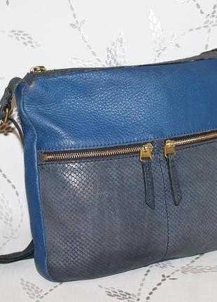 Кожаная сумка через плечо fossil