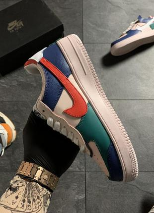 Кроссовки nike air force 1 white green blue .