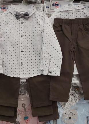 Комплект, рубашка и брюки для мальчика, нарядный 333337