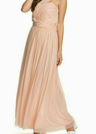 Нежное вечернее платье макси от tfnc, размер xxl