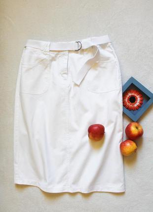 Белая джинсовая юбочка миди от denim co, размер xxl