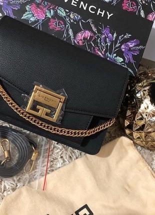 Кожаная сумка в стиле givenchy живанши черная в коробке