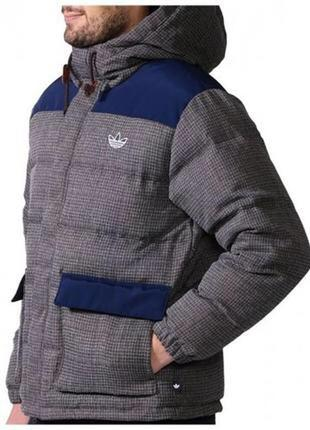 Зимняя куртка пуховик adidas 52 размер пух перо