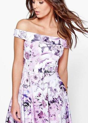 Нарядное платье с открытыми спущенными плечами boohoo великобр...