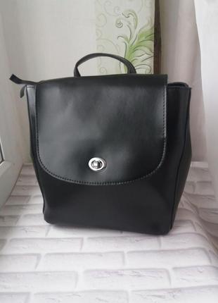 Кожаный рюкзак шкіряний портфель