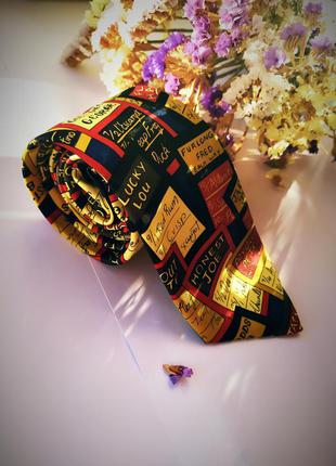Крутой весёлый галстук мультяшный яркий стильный подарок любимому