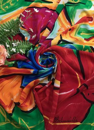 Яркий ♥️😎♥️ подписной шелковый платок os clunidli италия.