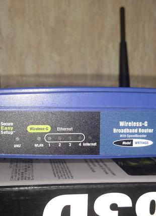 Роутер Cisco Linksys WRT54GS WiFi Router маршрутизатор
