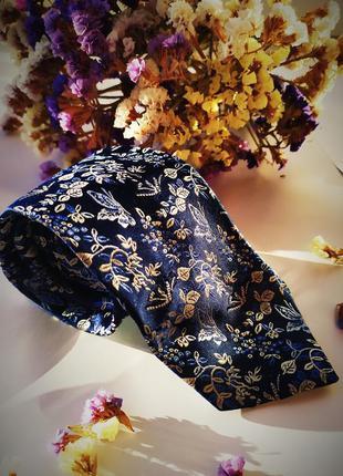 Шикарный стильный галстук синий белый голубой идеальный дорогой