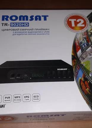 ТВ ресивер тюнер DVB-T2 Romsat TR-9020HD Цифровой эфирный приемни