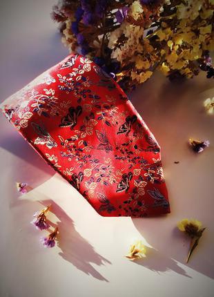 Идеальный красный галстук стильный оригинальный солидный подар...