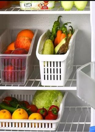 Органайзер в холодильник, выдвижные корзинки в холодильнике