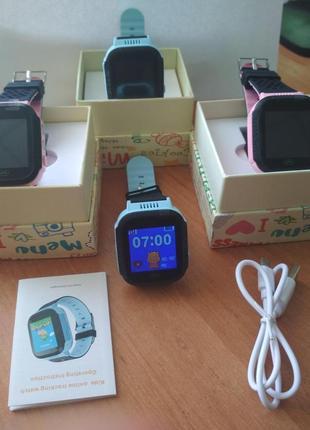Детские умные смарт часы с камерой и фонариком  Q528 руский язык